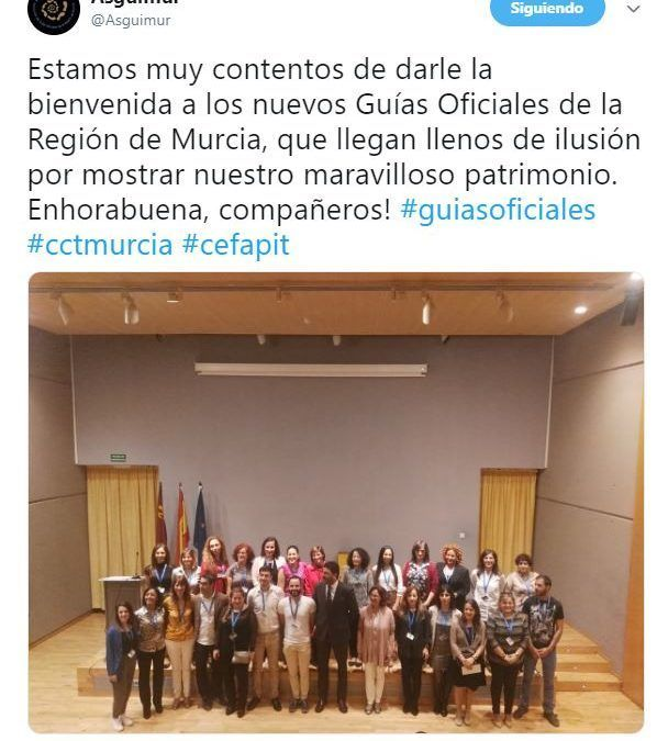 Murcia cuenta con 27 nuevos guías oficiales de turismo y ASGUIMUR los recibe como se merecen.