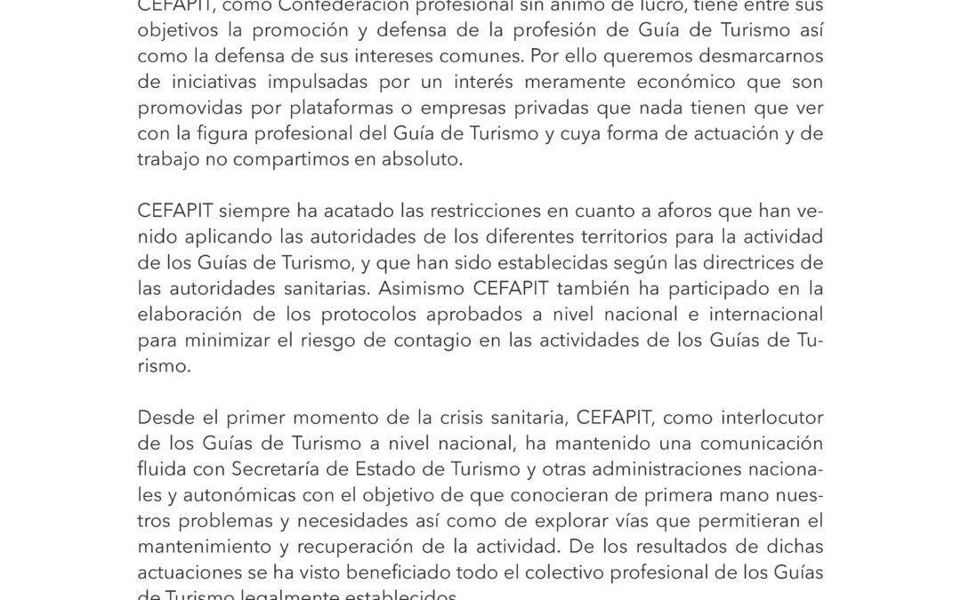 Comunicado Oficial y Urgente desde CEFAPIT